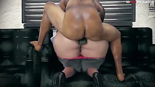 3d secretary with big ass fucked in the office