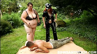 BBW domination with 2 dommes