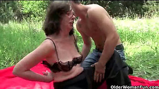 Nothing feels better than grandma s cunt outdoors -