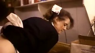 Classic xxx video featuring a sexy waitress