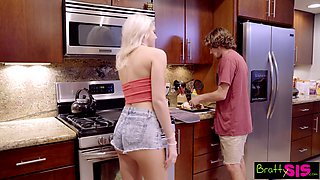 Step siblings Tyler Nixon and Tiffany Watson has crazy sex fun around the house