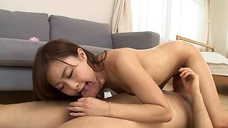 Japanese honey makes sweet noise while fucking a shaft