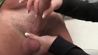 German domme handjob ruined orgasism