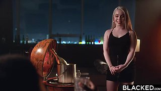 BLACKED Gorgeous Blonde Haley Spades fangirl gets creampied by crush Jax on PornHD