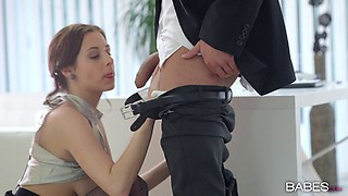 Nasty secretary gets nailed hardcore by her horny boss