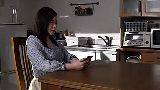 Lovely Asian housewife submits to a hardcore fuck session