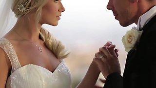 Beautiful bride pussyfucked before creampie