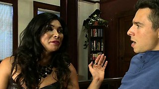 Hot transsexual seduction and cumshot