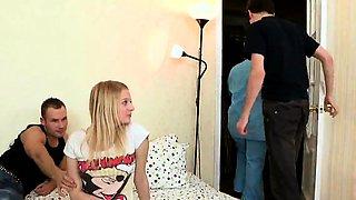 Doctor gazes hymen examination and virgin teen riding