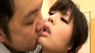 Adorable Japanese schoolgirls indulge in kinky sex action